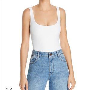 ALIX NYC white Mott Scoop Neck Bodysuit